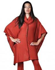 Large Red Poncho