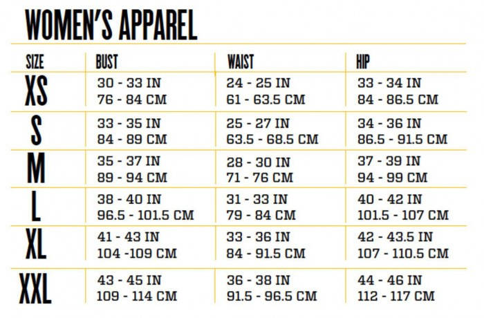 Image result for size chart for women's clothing